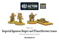 Bolt Action - Imperial Japanese Sniper and Flamethrower Teams