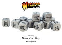 Bolt Action - Order Dice - Grey (12)