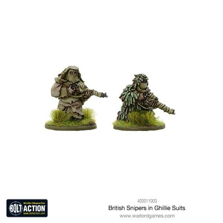 Bolt Action - British snipers in Ghillie suits
