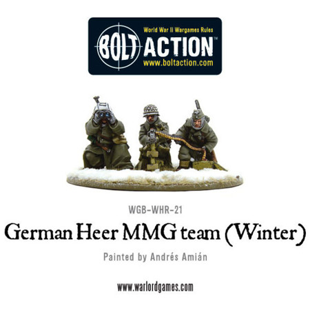 Bolt Action - German Heer MMG team (Winter)