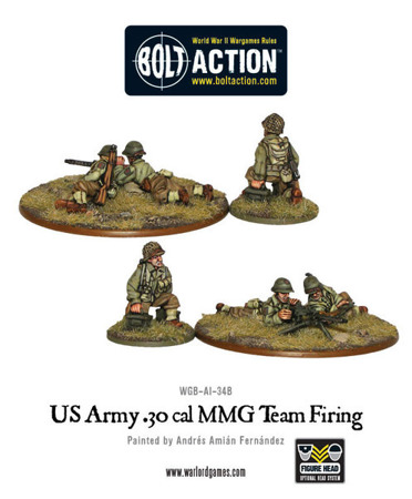 Bolt Action - US Army 30 Cal MMG team firing