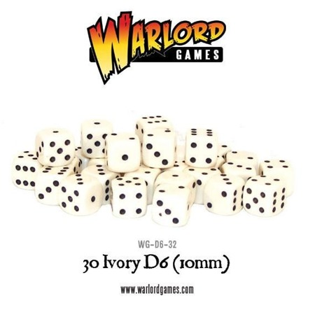 Spot dice 10mm - Ivory (30 szt)